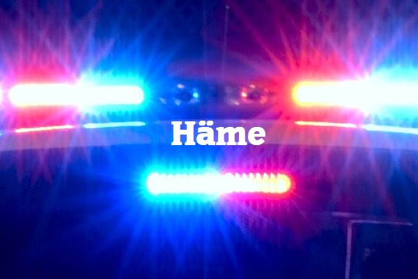 Mieshenkilö antoi positiivisen testituloksen poliisin huumepikatestiin Hattulassa – verestä löytyi amfetamiinia ja kannabista